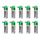 Boost Oxygen Canned 2-Liter Natural Oxygen Inhaler Canister Bottle for High Altitudes, Athletes, and More, Flavorless (10 Pack)