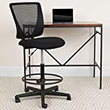 Flash Furniture Black Mesh Draft Chair, 26'D x 26.25'W x 49.25'H, Other