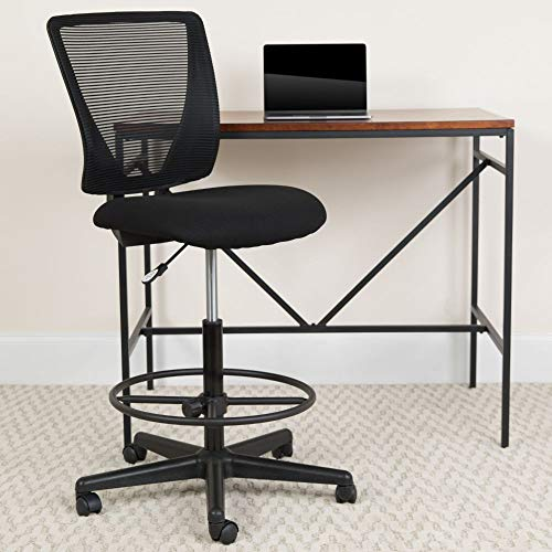 Flash Furniture Black Mesh Draft Chair
