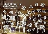 Pegatinas Ventana De Navidad Calcomanías Ventanas para Santa Claus Vinilo Navidad Decoración Para Ventanas De Puertas,Escaparates, Vitrinas, 55 X 38 cm / 21.6 X 15 '' (802)