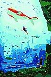 Paint by Numbers Aquarium - DIY Pintura al óleo digital Pintura acrílica Set Adultos Niños Decoración para el hogar con marco 16x20 pulgadas