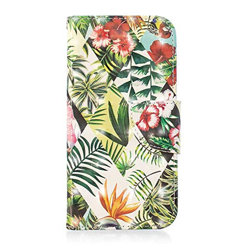 Bear Village Xiaomi Pocophone F1 Hülle, 3D Glitter Surface Leder Cover Brieftasche Schutzhülle mit Kartenfächern und Ständer Funktion für Xiaomi Pocophone F1 (#4 Blätter)