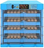Portatile Incubatrice, Covatrice Macchina Automatica Tornitura di Uova, Controllo di Temperatura Incubatrici di Uova, per Gallina/Anatra/Quaglia,Blue_256 Eggs
