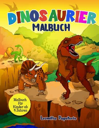 DINOSAURIER MALBUCH: Das Dino Malbuch für Kinder ab 4 Jahren