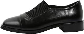 [ユリカー] パンプス レディース シューズ 美脚 PUレザー スクエアトゥ コーディネート 韓国風 ローファー レトロブーム 靴 歩きやすい ファッション カジュアル