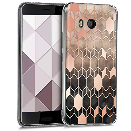 kwmobile HTC U11 Hülle - Handyhülle für HTC U11 - Handy Case in Glory Design Pink Rosegold