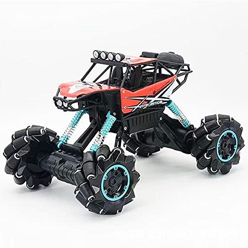 DONGKUI Drifting RC Car 4WD Climbing Buggy con Luz LED Música Control Remoto Vehículo 2.4Ghz Los Coches De Juguete para Niños Son Un Regalo Sorpresa De Cumpleaños para Niños Y Adultos.