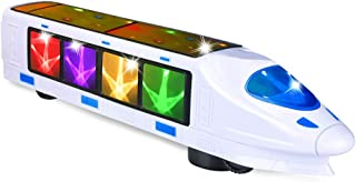 CYKT Electric Train Toy with Music, Beautiful 3D Lightning Electric Train, The Best Creative Gift Toy for 3-12 Year Old Boys .