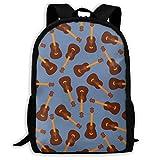 ADGBag Vintage Guitars Blue Jazz Fashion Outdoor Shoulders Bag Durable Travel Camping for Kids Backpacks Shoulder Bag Book Scholl Travel Backpack Sac à Dos pour Enfants