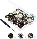 30 Bottoni Jeans, Bottoni Jeans Regolabili di Ricambio Nessun Bottone Istantaneo Instant Buttons in Metallo Bottoni (20MM)