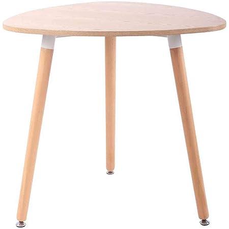CLP Table De Cuisine Retro Abenra I Table D'Appoint Triangulaire avec 3 Pieds en Bois Diamètre 80 cm Hauteur De La Table 75 cm, Couleurs:Nature, Taille:80 cm