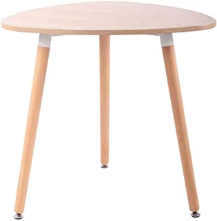 CLP Table De Cuisine Retro Abenra I Table D'Appoint Triangulaire avec 3 Pieds en Bois Diamètre 80 cm Hauteur De La Table 7...