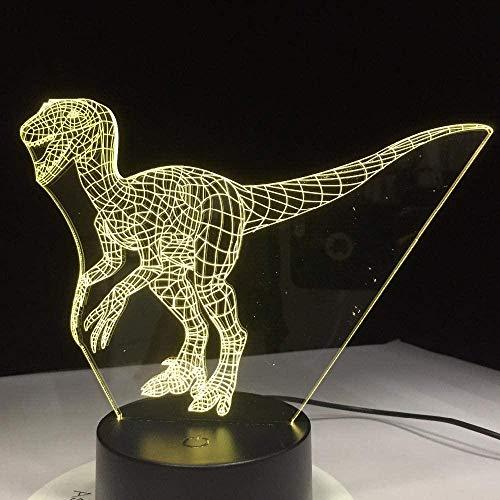 3D-nachtlampje voor kinderen, vogel papegaai, decoratie van het nachtkastje met USB-kabel, leuk cadeau voor jongens, meisjes of familie. Interruttore del telecomando Stile 233