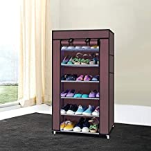 Parasnath 6-7 Layer Utility Rack Cloth Cabinet/Shoe Rack Organiser, Colour - Random Colour Assorted (Made in India)