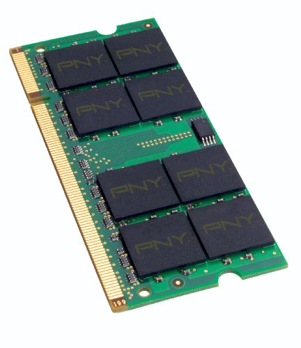 PNY Optima 2GB DDR2 667 MHz PC2-5300 Notebook/Laptop SODIMM Memory Module MN2048SD2-667