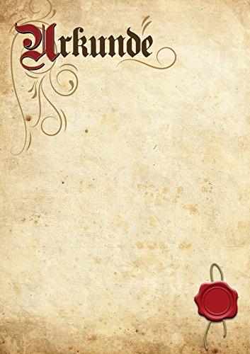 TypeStoff Urkunde Blanko in Elefantenhaut-Optik für Gelegenheiten wie Auszeichnung, Belobigung, Ehrung, Anerkennung und Jubiläum im Privatbereich, im Beruf oder im Verein (10 Stück)