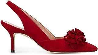 Luxury Fashion | Stuart Weitzman Women 9093ROSSELLA75CHI Red Leather Heels | Spring-summer 20