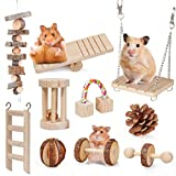 Pet Soft Hamster Chew Toys - Natural Wooden Play Toy Exercise Bell Roller Teeth Care Molar Toy for Guinea Pig Chinchilla Hamster Parrot Bunny Other Small Animals