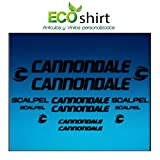 Ecoshirt 1L-3UQ5-8HBJ Pegatinas Stickers Cuadro Frame Cannondale Scalpel Am26 Aufkleber Decals Adesivi Bike BTT MTB Cycle, Negro