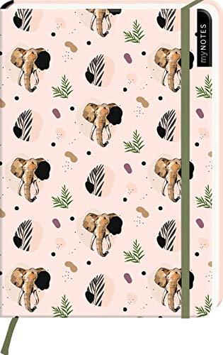 myNOTES Notizbuch A5: Elefanten: Notebook medium, gepunktet   Für Exotik-Fans: Ideal als Bullet Journal oder Tagebuch