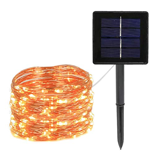 Outdoor Solar Lights LED Solar Fairy Outdoor Lights 7m 50 Lichter Warm White Christmas Decoration Lights, Copper Wire String Lights for Patio, Garden, Yard, Wedding, Party