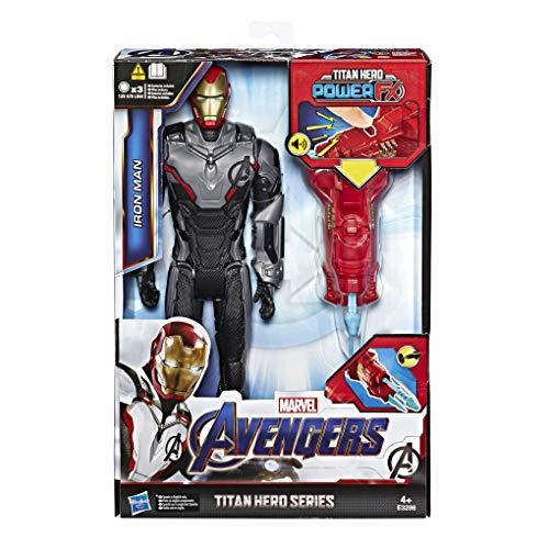 Avengers Titan Hero Iron Man mit Quantum Power Pack, ca. 30 cm große Actionfigur in Deutscher Sprachausgabe