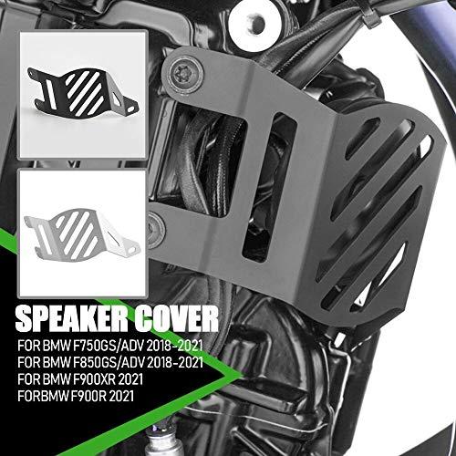 Lorababer Motocicleta Acero Inoxidable Negro Plata Bocina Altavoz Decorativo Cubierta Protectora Protector...
