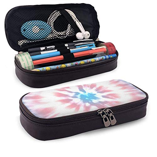 Transgender Trans Pride Flag Krawatte Dye Themed Muster Mini Schule Bleistiftetui Halter Tasche Office Pen Box Reißverschlusstasche Set Pu Leder Reißverschluss