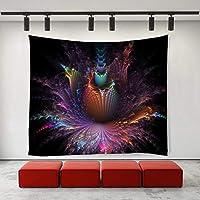JOOCAR タイダイカラフルフェニックスタペストリーヒッピーアートタペストリー壁掛け居間の寝室の寮の装飾的な芸術のタペストリー 150cm x 230cm