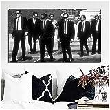 DNJKSA Movie Reservoir Dogs Poster Black and White Canvas