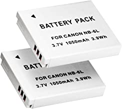PHOTO MASTER 2X NB-6L/NB-6LH Replacement Battery for Canon Powershot D10, D20, D30, S90, S95, S120, SD770 is, SD980 is, SD1200 is, SD1300 is, SD3500 is, SD4000 is, SX240 HS, ELPH 500 HS