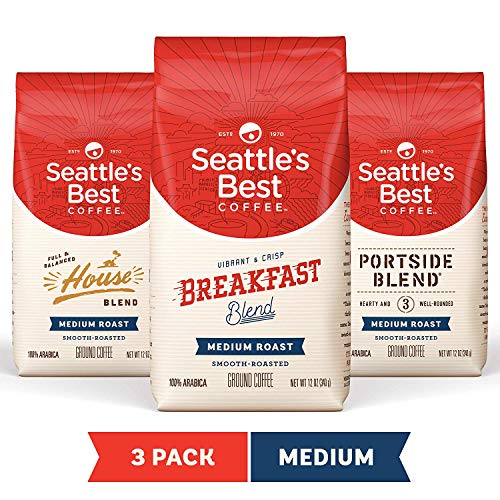 Seattle's Best Coffee Medium Roast Ground Coffee Variety Pack, Three 12 Ounce (Pack of 3)