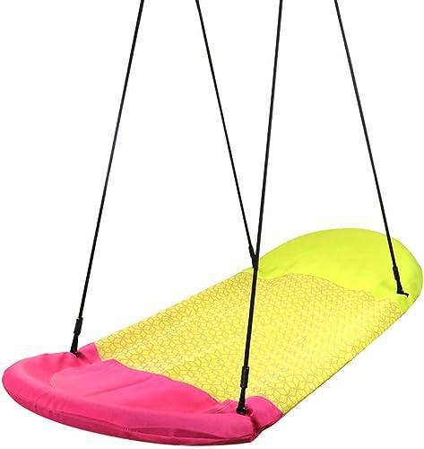 PIAOLING Kinderschaukel Indoor und Outdoor Erwachsenen H ematte Stoff Vogelnest Stiefel Form Swing Balkon Stuhl Doppelschaukel (Farbe   Gelb)