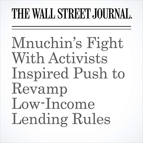 Mnuchin's Fight With Activists Inspired Push to Revamp Low-Income Lending Rules copertina