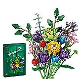 Sungvool Art - Ramo de flores artificiales para decoración de Navidad, regalo de cumpleaños