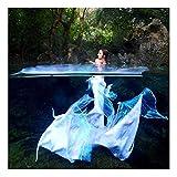 Mermaid Insiemi del Bikini Coda da Sirena per Nuotare Costumi da Bagno per Piscina/Spiaggia/Bagno/Cosplay/Festa A Tema(Color:Multicolor 5)