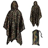 Yesloo Poncho imperméable multifonctionnel extra-long 3-en-1, imperméable unisexe,...