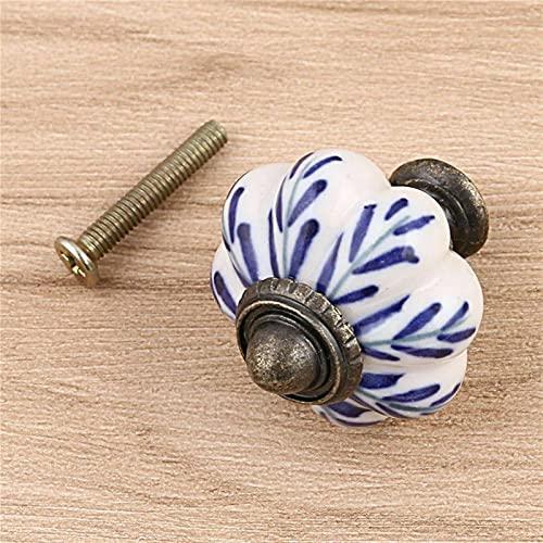 N\C Gabinete Manija Extractor por One Vintage Puertas de cerámica Perillas para Armario Armario Armario Armario Muebles Muebles Tirador (Color : Pumpkin Handle 01)