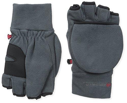 Manzella Herren Cascade Convertible Handschuhe, Größe XL, Anthrazit
