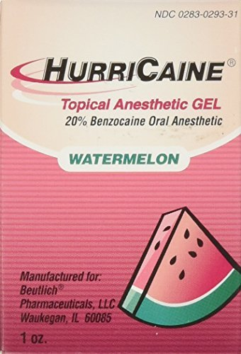Beutlich LP Pharmaceuticals Hurricaine Topical Anesthetic Gel, Watermelon, 1 Ounce by Beutlich LP Pharmaceuticals