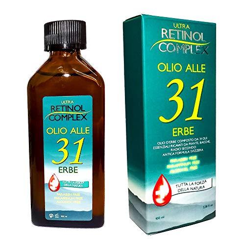 Antico Olio alle 31 Erbe con Storica ricetta Svizzera con Formula di Oli Essenziali di qualità Superiore - Made in Italy 320