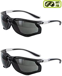 Magid Glove & Safety Y84BKAFGY Gemstone Onyx Sporty Foam Lined Safety Glasses, Clear Frame with TPR Black Temples (2 Pair)