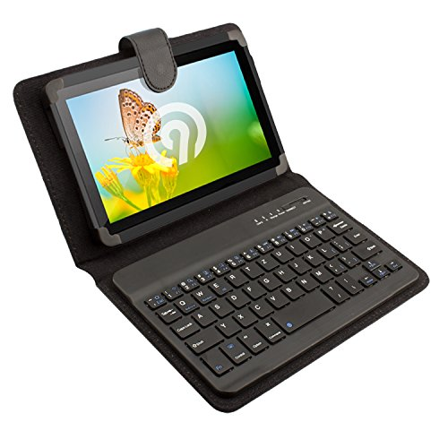 NINETEC Keyboard Case Tasche Tablet PC Cover 7 Zoll Schutz Hülle Bluetooth