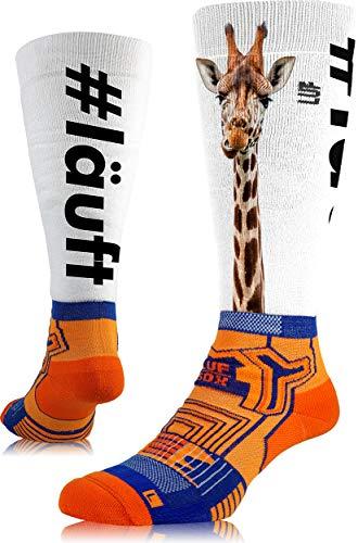LUF SOX Performance Ride Transform Giraffe - Socken für Damen und Herren, Unisex-Größe 35-38, 39-42 und 43-47, funktionell, für Sport und Freizeit