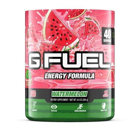 G Fuel Watermelon Elite Energy Powder, 9.8 oz (40 Servings)