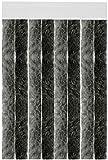 Flauschvorhang individuell kürzbar Auswahl: Unistreifen anthrazit - schwarz 56 x