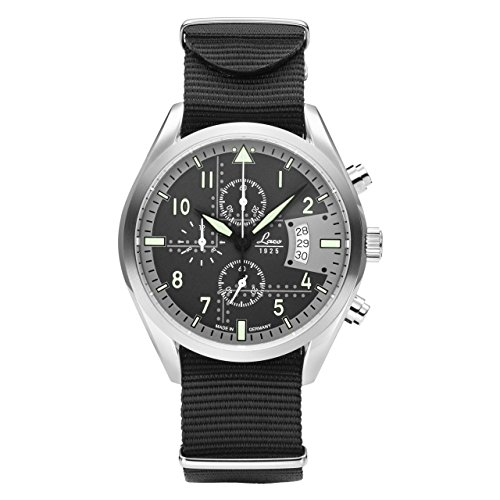Laco Detroit Cronografo uomo nero Nylon Bracciale 861917