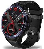 XWZ 4G 64G Smart Watch 4G 1.6Inch 400400 Resolution Wireless Projection Android 10 Dual Camera 900Mah Battery Wristwatch Smart Bracelet Fitness Tracker Watch,Black