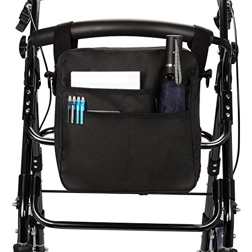 supregear Rollator-Tasche, Leicht Rollator Bag Dauerhaft Nylon Universal Fit Organizer Carry Bag Reisetasche Walker-Zubehörtasche für Jeden Rollator-Rollstuhl-Transportstuhl im Walker-Stil