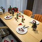 Sunshine smile Weihnachten Bestecktaschen,Geschirrhalter Besteckhalter Weihnachtsmann,Weihnachten Besteckhalter Bestecktasche,Weihnachtsmann Tischdeko,Weihnachten Dekoration Besteck(B, 12 PCS) - 6